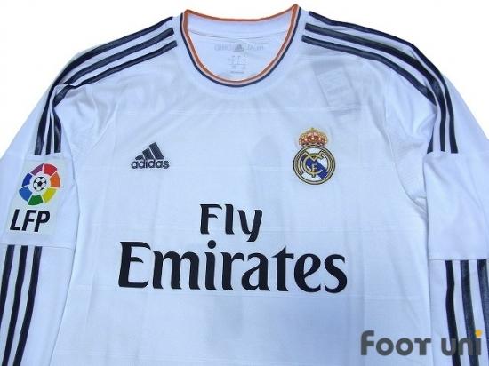 sale retailer d9feb 7cc03 Real Madrid 2013-2014 Home Long Sleeve Shirt #4 Sergio Ramos ...