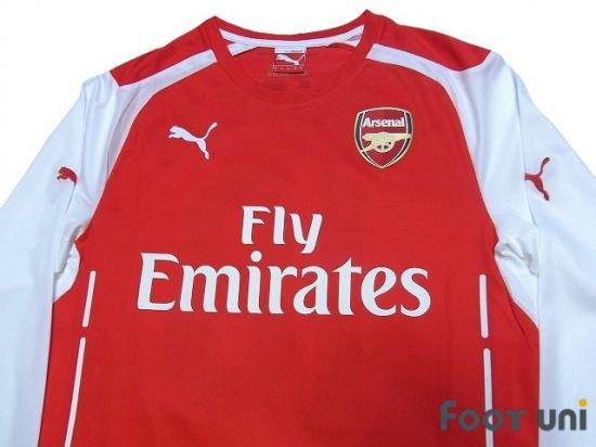 huge selection of eb7d5 5ac22 Arsenal 2014-2015 Home Long Sleeve Shirt #18 Monreal