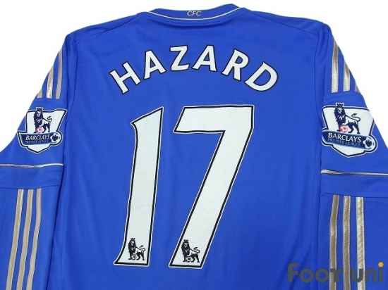 new concept c0ced 8236b Chelsea 2012-2013 Home Long Sleeve Shirt #17 Hazard - Online ...
