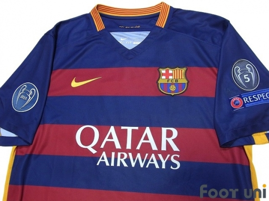 b9a96c6ba FC Barcelona 2015-2016 Home Shirt  10 Messi Champions League Patch Badge  w tags  BCN56H1018507