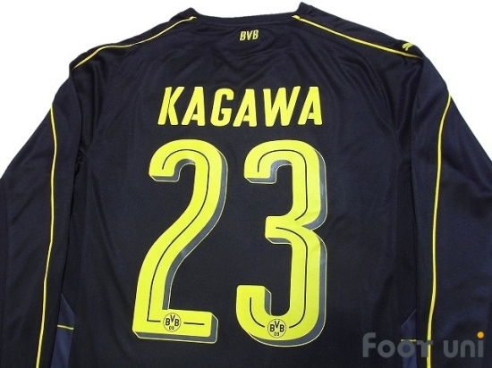 new arrival 20402 ecb3d Borussia Dortmund 2016-2017 Away Long Sleeve Shirt #23 Kagawa w/tags