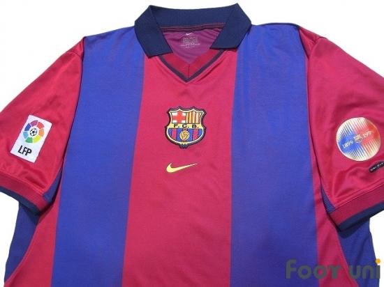 check out 16253 8f078 FC Barcelona 2000-2001 Home Shirt #6 De La Pena - Online ...
