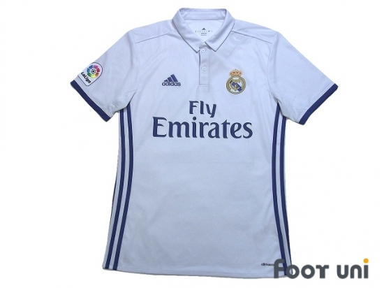 reputable site c3be0 c88be Real Madrid 2016-2017 Home Shirt #21 Morata La Liga Patch/Badge w/tags