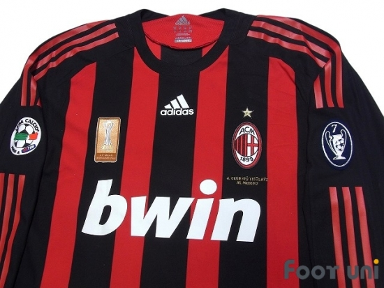 new arrivals e00ae 424f4 AC Milan 2008-2009 Home Match Issue Long Sleeve Shirt #22 ...