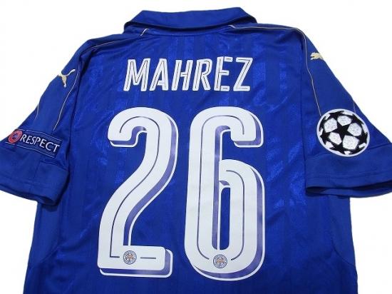 san francisco 23a73 2f1e0 Leicester City 2016-2017 Home Shirt #26 Mahrez Champions League Patch/Badge  Respect Patch/Badge