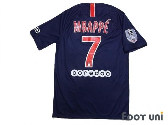 wholesale dealer 258b4 61cb1 Paris Saint Germain 2018-2019 Home Shirt #7 Mbappe - Online ...