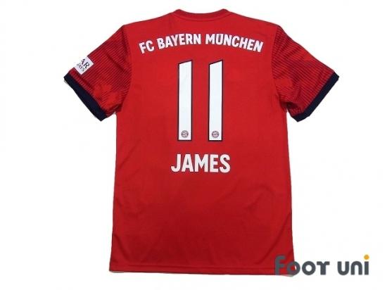 be6b23b93bc Bayern Munich 2018-2019 Home Shirt #11 James Rodriguez Bundesliga  Patch/Badge [BMC89H1118612]