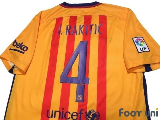 promo code 05bb5 2f8a1 FC Barcelona 2015-2016 Away Shirt #4 I. Rakitić - Online ...