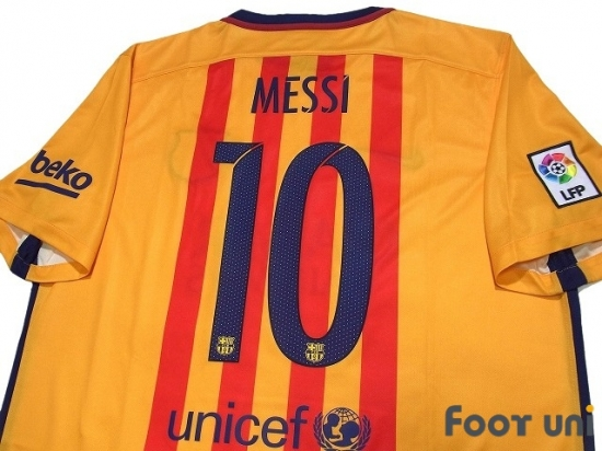 purchase cheap 5d371 c75ad FC Barcelona 2015-2016 Away Shirt #10 Messi - Online Store ...