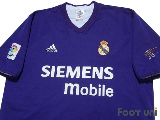 big sale 5a597 92522 Real Madrid 2002-2003 3rd Reversible Shirt LFP Patch/Badge Centenario  Embroidery