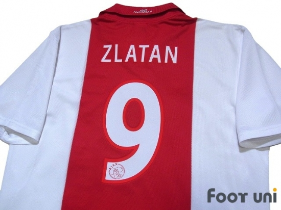 buy popular e1809 8939e Ajax 2001-2002 Home Shirt #9 Zlatan Ibrahimovic - Online ...