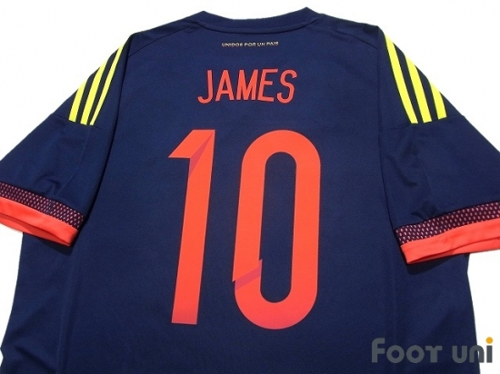 detailed look 92277 32a68 Colombia 2015-2016 Away Shirt #10 James Rodriguez