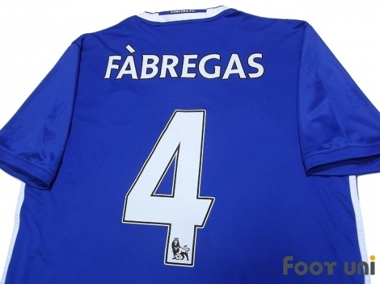 sports shoes 40868 d0db4 Chelsea 2016-2017 Home Shirt #4 Cesc Fabregas