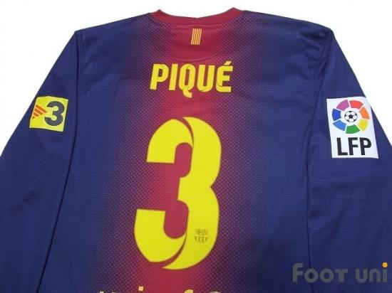 finest selection eeca0 6af86 FC Barcelona 2012-2013 Home Long Sleeve Shirt #3 Pique LFP Patch/Badge TV3  Patch/Badge