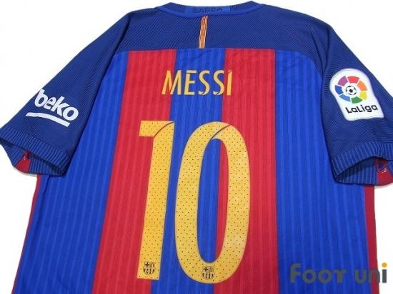 newest 54350 a190f FC Barcelona 2016-2017 Home Authentic Shirt #10 Messi La Liga Patch/Badg